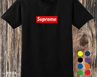 Inspired By Supreme Box Logo T shirt Variant Colour Size S to 2XL