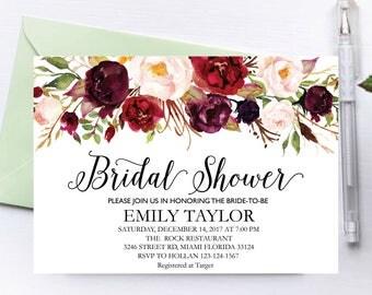 Bridal Shower Invitation, Printable Bridal Shower, Boho Bridal Shower, Instant Digital Download File, Flower Bridal, Bridal Shower Signs 6