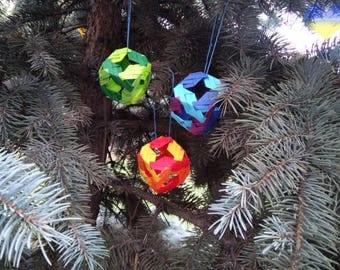 OOAK Origami Decorations Origami House Decorations Origami Ornaments Origami Box Lantern Rainbow & Origami boxes | Etsy Aboutintivar.Com