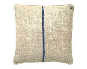 German Vintage Burlap-Linen mix Pillow  -  18 x 18""