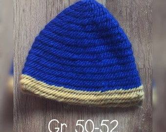 Needle-bound cap gr. 50-52 Children 100% virgin wool
