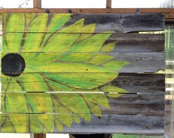 Rustic barn wood flower