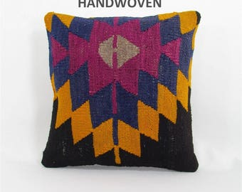 throw pillow antique kilim pillow boho rug pillow throw pillow cover decorative pillow home decor pillows 000974