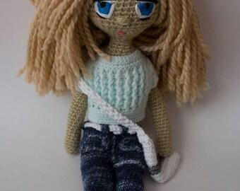 handmade doll, unique, handmade crochet,