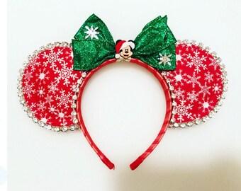 Christmas Inspired Mouse Ears - Mickey Christmas Inspired Mouse Ears