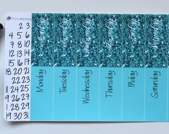 Big Happy Planner Date Covers - Light Blue