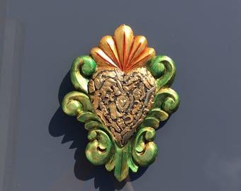 Grand Coeur en bois décoratif