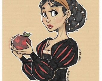 INKTOBER - Snow White / Snow White