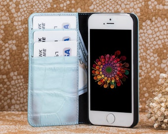 iPhone 5s Case iPhone 5s Wallet iPhone 5s Leather Case iPhone 5 Case iPhone 5 Wallet iPhone se Leather iPhone se Wallet iPhone 5 Cases-BLUE