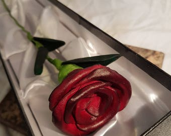 Handmade Leather Rose