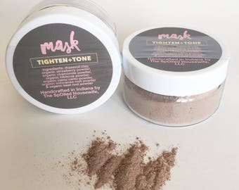 Face | Mask - Tighten+Tone - Face Mask, Organic, Natural, Clay, Cleansing, Toning