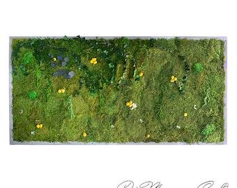 "Moss Wall Art 70x36"". Natural Home Decor. Preserved Moss and Plants. Moss Art. Green Art. Eco Decor. Natural Plant Deco. Plant Decor."