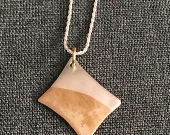Sterling Silver and Gold-Fill Hand-Cut Free-Form Necklace