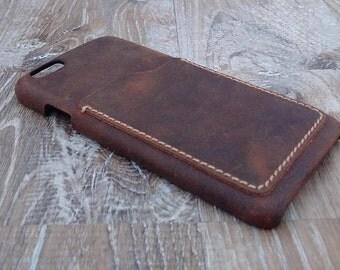 Iphone 6 / 6 Plus / 6 S / 6 S plus / 7 / 7 plus   fine leather case, vintage Leather case , phone case , Leather Phone case