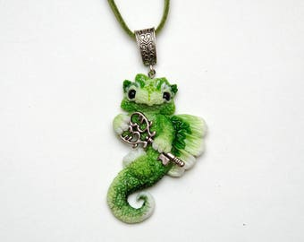 christmas gift green thumb girlfriend gift|for|her wife gift for sister green pendant necklace key charm necklace good luck dragon pendant