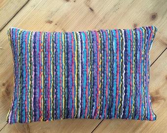Striped Upcycled Cushion
