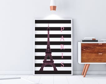 Paris Poster, Eiffel Tower, Office Wall Art, Wall Art, Home Decor,
