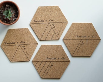 Hexagonal Coasters Etsy
