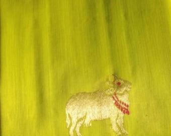 handwoven pure chanderi silk saree