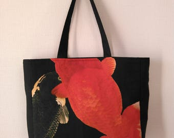 Goldfish print tote bag (蘭鋳)