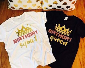 Birthday squad shirt, birthday squad shirts, squad goals, birthday queen shirt, birthday shirt women, squad goals, squad birthday shirts