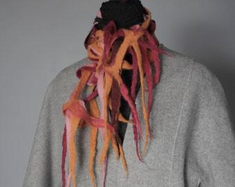 Women's Merino Wool Felted Scarf