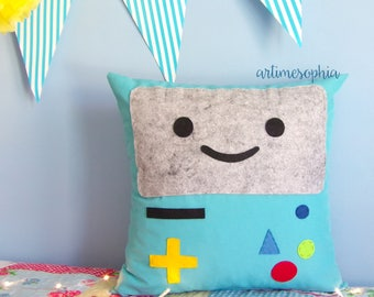 Pillow Beemo from Adventure Time with Finn and Princess Bubblegum, Customize Pillow
