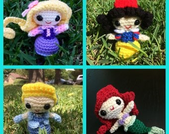 Custom Made-to-Order Disney Princess Amigurumi Doll