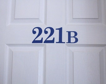 221 B Door sticker, Sherlock Apartment Decal, 221B Sticker, Sherlock 221 B Sticker