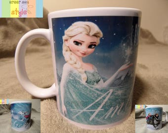 Frozen theme personalized mug