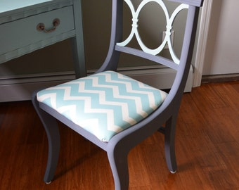 Vintage Painted Desk Chair - PICK UP ONLY