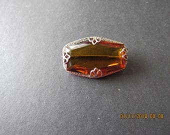 Antique glass brooch
