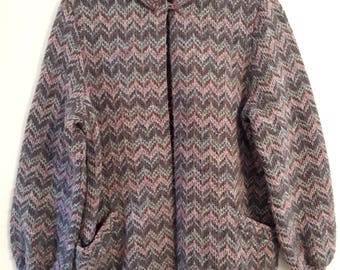 Vintage purple chevron cardigan