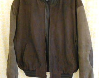 Brown varsity jacket | Etsy