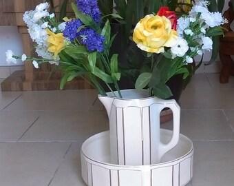 Art deco pitcher and wash bowl set