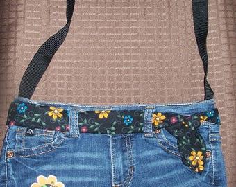 Little ladybug denim purse