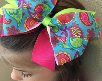 Large Multi Colored Bow