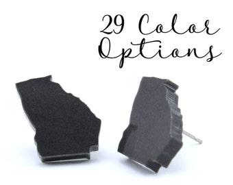 "Any State!! 1 Pair Blank State Post Earrings, 12mm 1/2"" 16mm Glitter, Mirror, Monogram Blank, Blank Acrylic Earrings, Acrylic Earring Blanks"