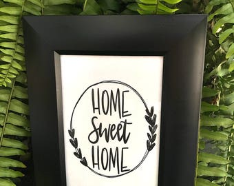 Instant Download, Home Sweet Home print, digital print, wall decor, printable art, wall art printable, gallery wall printable