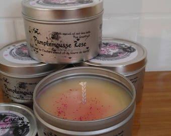 Massage, massage candle, scented, pink grapefruit candle, soy candle, soy candle, candle, 8 oz, relaxing, relaxation