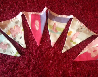 Fabric Bunting, Wedding banners, Baby bunting, Wall hangings, Personalised, Any colour and Lettering available,