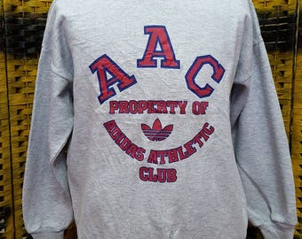 Vintage ADIDAS TREFOIL / AAC property of adidas / Medium size sweatshirt (L003)