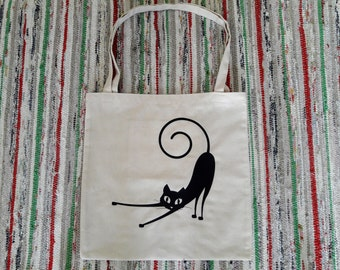Tote cat bag- Handmade