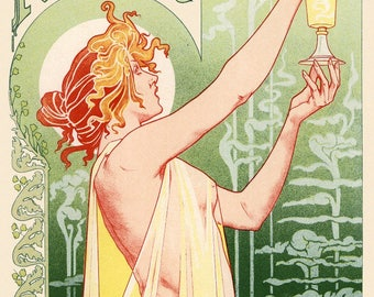 "Poster ""Absinthe little dress,"" to drink in moderation."