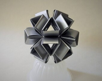 Paper Icosahedron Decorative Sculpture