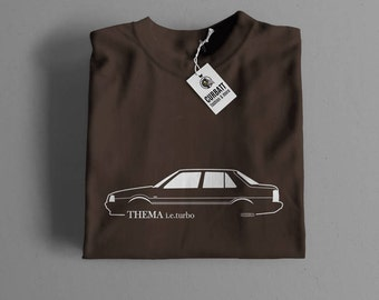 T-shirt Lancia Thema Turbo | Gent, Lady and Kids | all the sizes | worldwide shipments | Car Auto Voiture