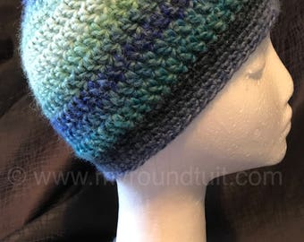 Ocean Blues Ponytail Beanie