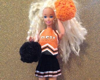 OSU Barbie Cheerleading Outfit w/ pom poms