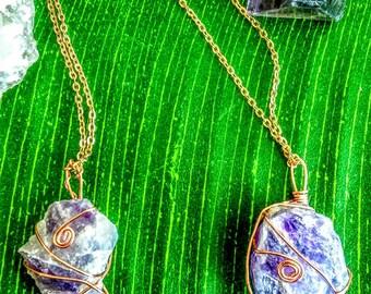 Lilac Amethyst Necklaces