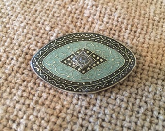 Vintage Catherine Popesco France Enamel Brooch Pin